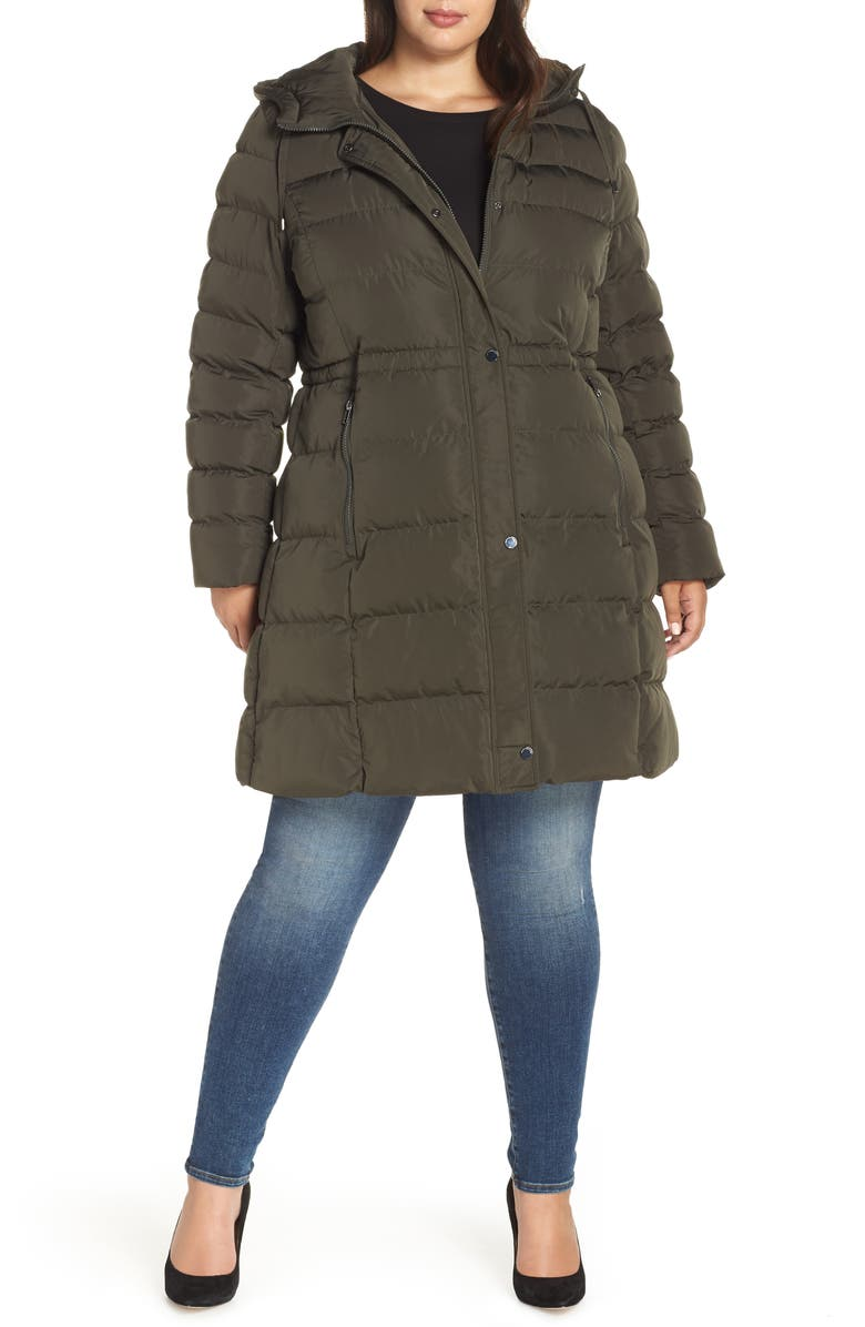 MARC NEW YORK Jersey Hooded Parka, Main, color, OLIVE