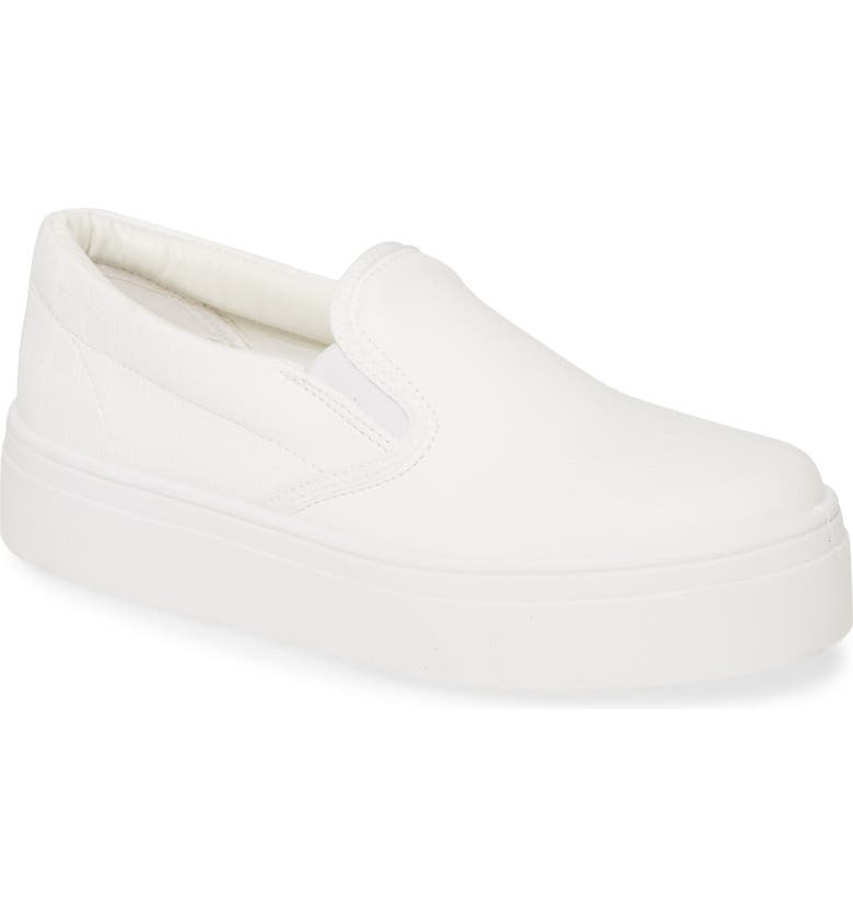 TOPSHOP Platform Sneaker, Main, color, 100