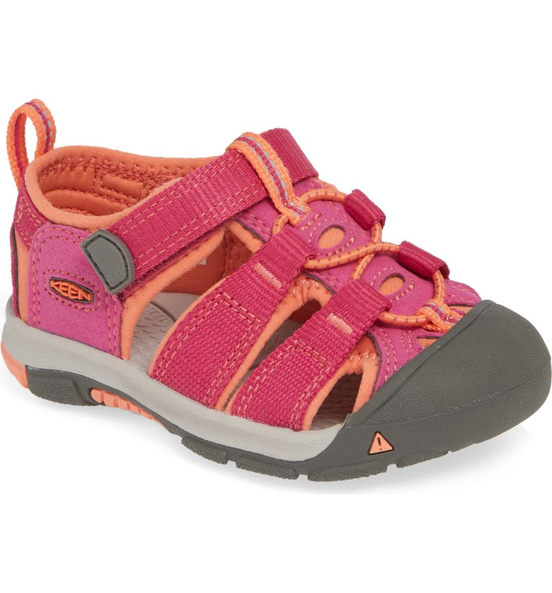 KEEN Newport H2 Water Friendly Sandal, Main, color, VERY BERRY/ FUSION CORAL
