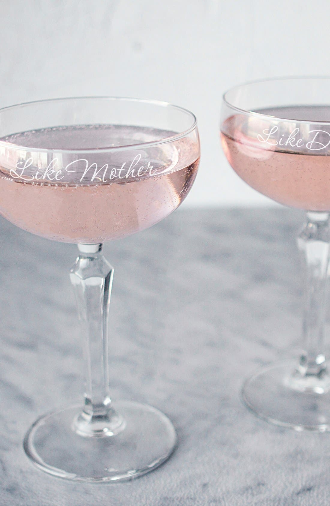 Cathy S Concepts Mother Daughter Etched Champagne Coupe Toasting Glasses Nordstrom