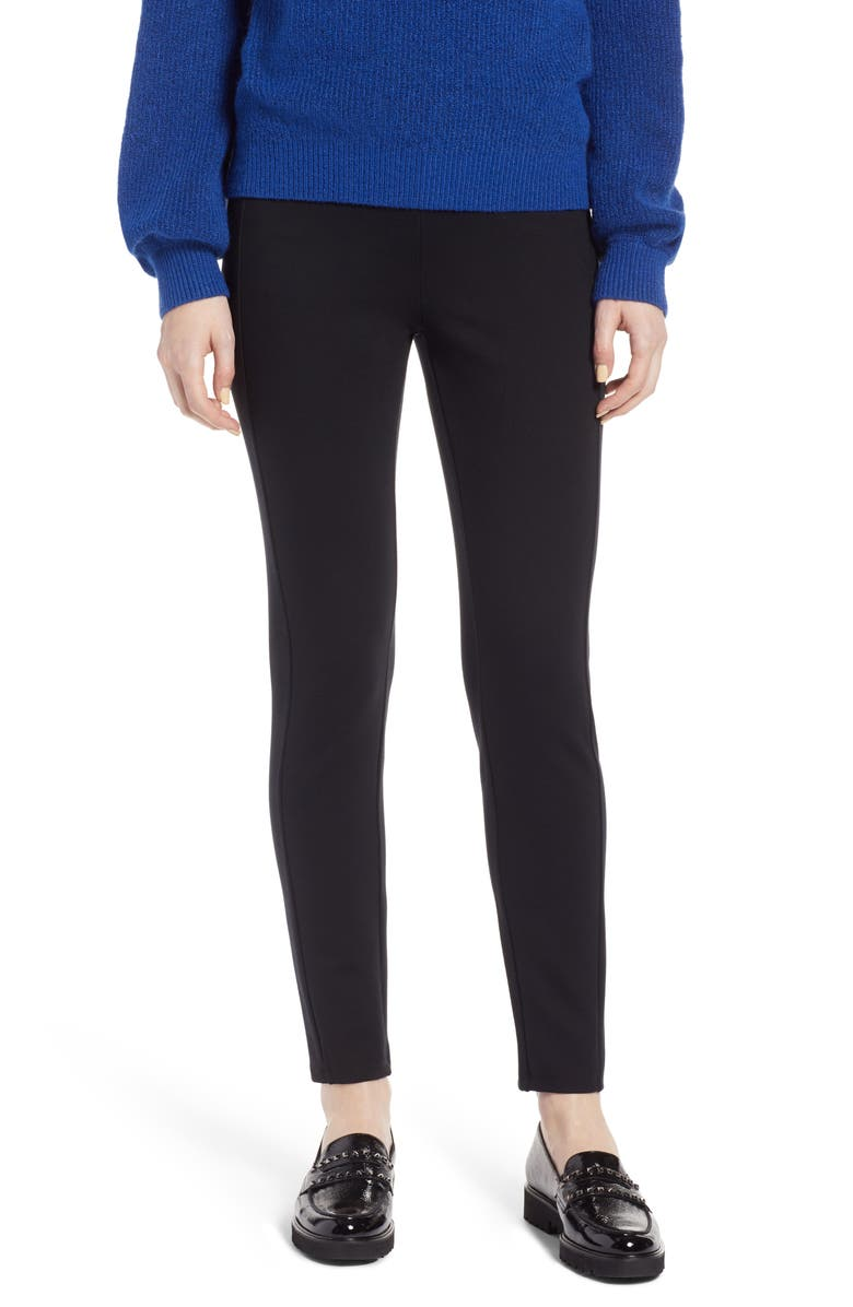 HALOGEN<SUP>®</SUP> Skinny Ponte Knit Pants, Main, color, 001