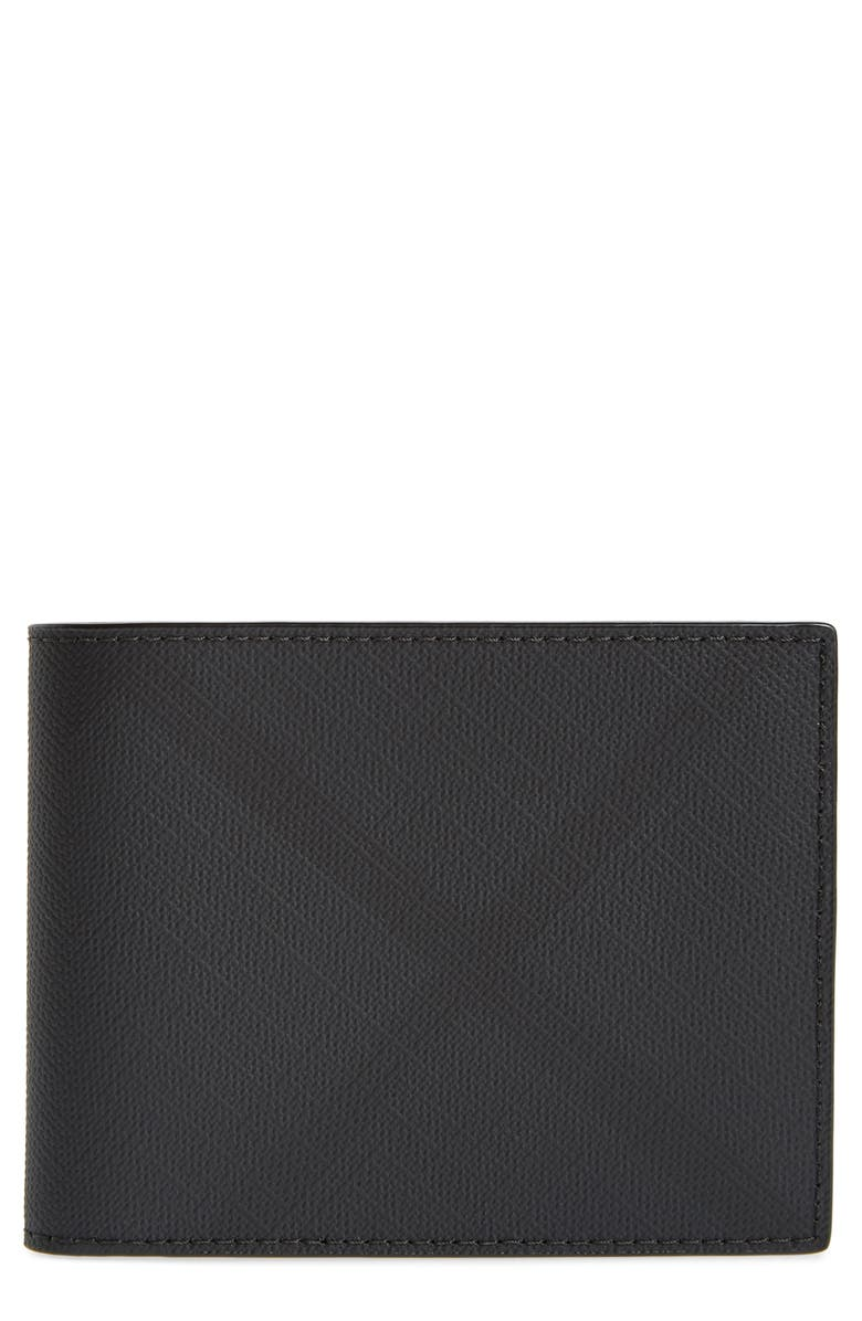 BURBERRY London Check Wallet, Main, color, 010