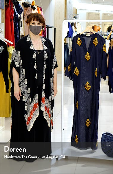 Embroidered Cotton Caftan, sales video thumbnail