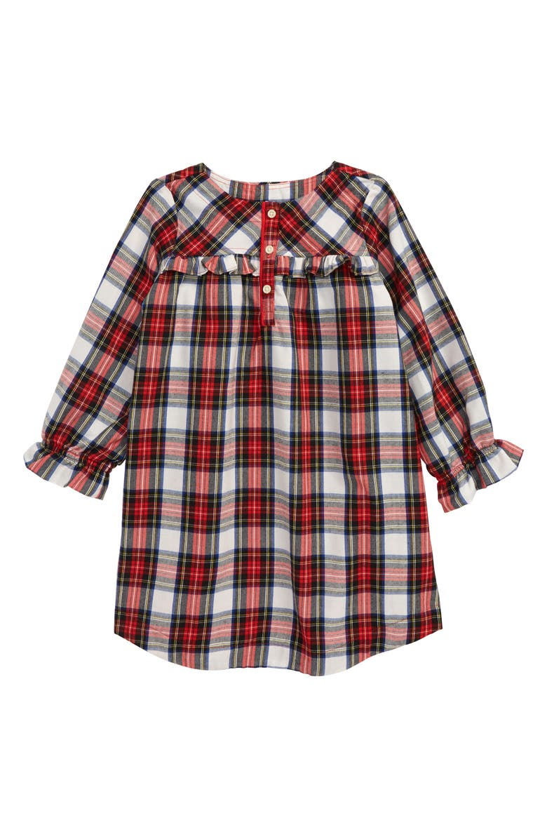 CREWCUTS BY J.CREW Tartan Flannel Nightgown, Main, color, 600