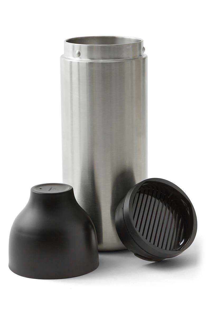 RABBIT 3-Piece Stainless Steel Cocktail Shaker, Main, color, SILVER/ BLACK