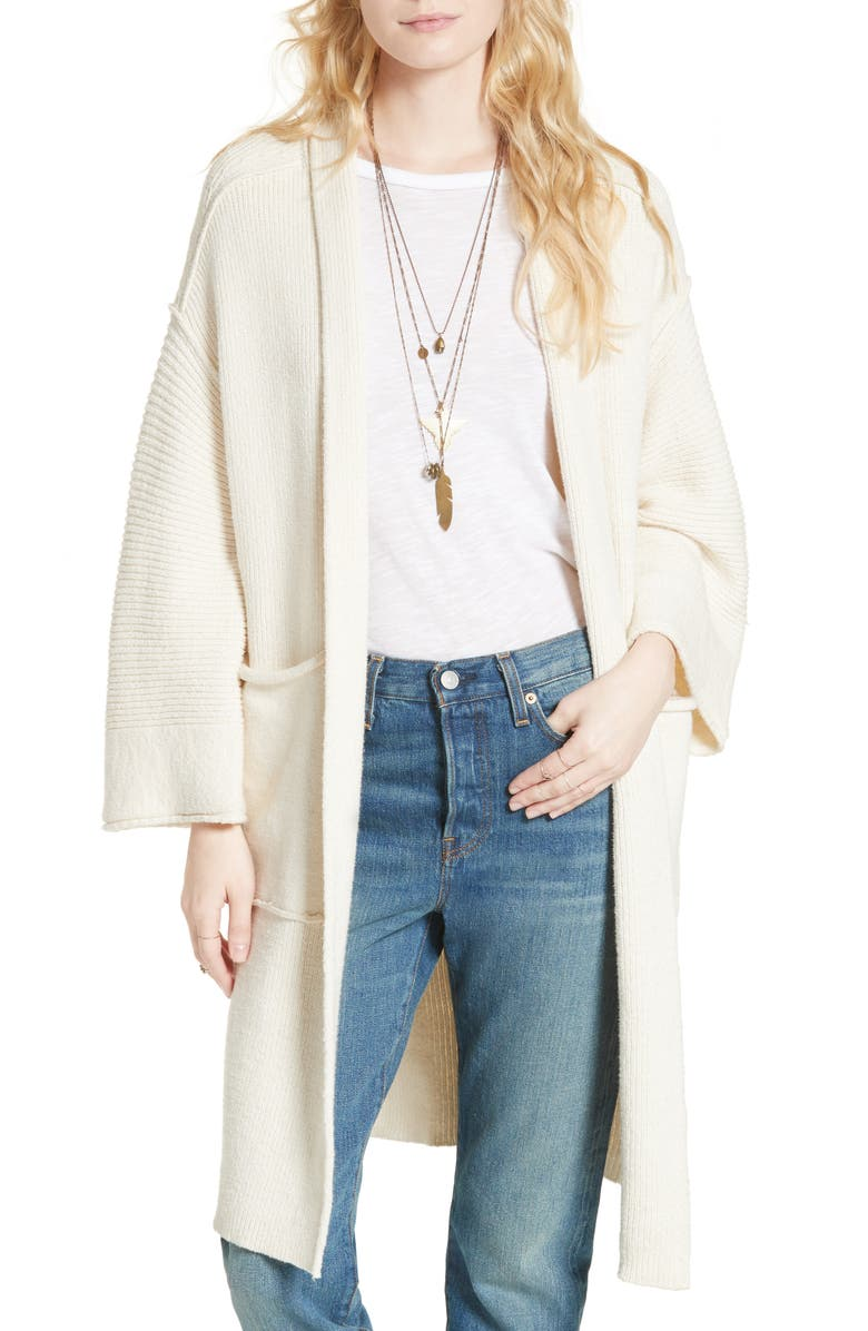 FREE PEOPLE By the Campfire Cardigan, Main, color, IVORY