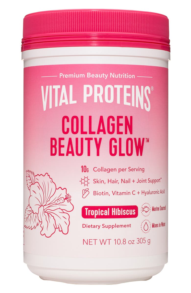 VITAL PROTEINS Collagen Beauty Glow Dietary Supplement, Main, color, TROPICAL HIBISCUS