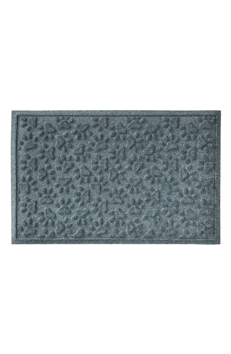 L.L.BEAN Scattered Paws Recycled Waterhog Mat, Main, color, BLUESTONE