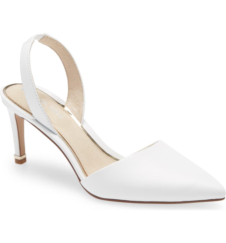 KENNETH COLE NEW YORK Riley 70 Slingback Pump, Main, color, WHITE LEATHER