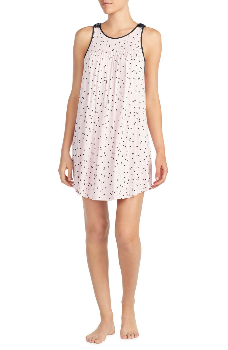 KATE SPADE NEW YORK jersey chemise, Main, color, SCATTERED DOT PINK