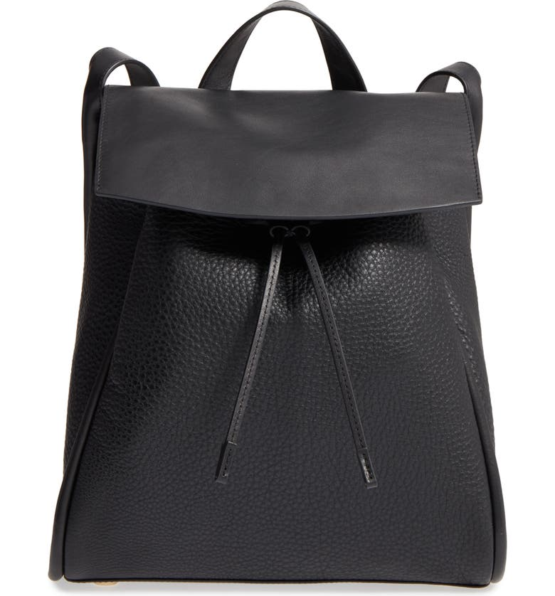 SKAGEN Ebba Leather Backpack, Main, color, 001