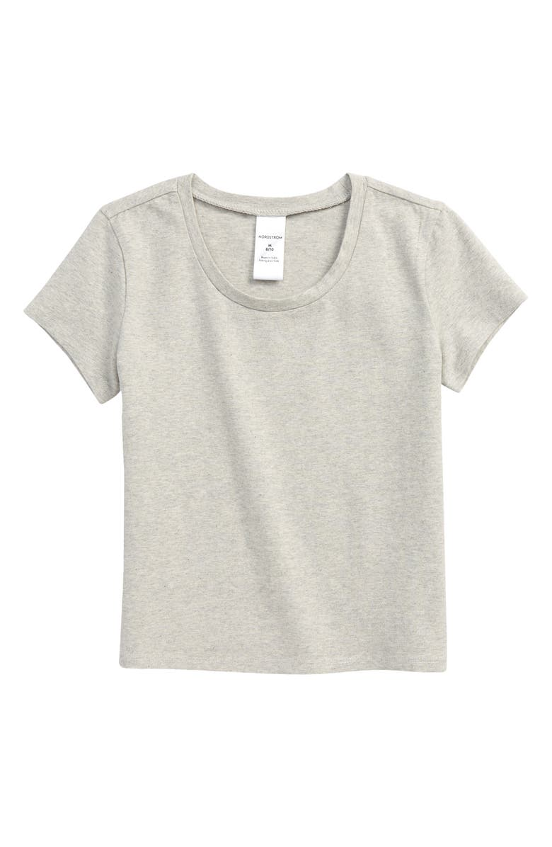 NORDSTROM Kids' Classic Baby Tee, Main, color, GREY LIGHT HEATHER