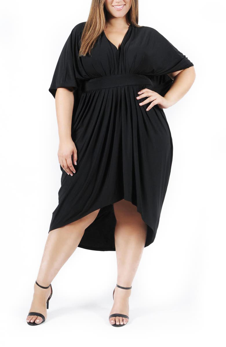 COLDESINA Butterfly Caftan, Main, color, BLACK