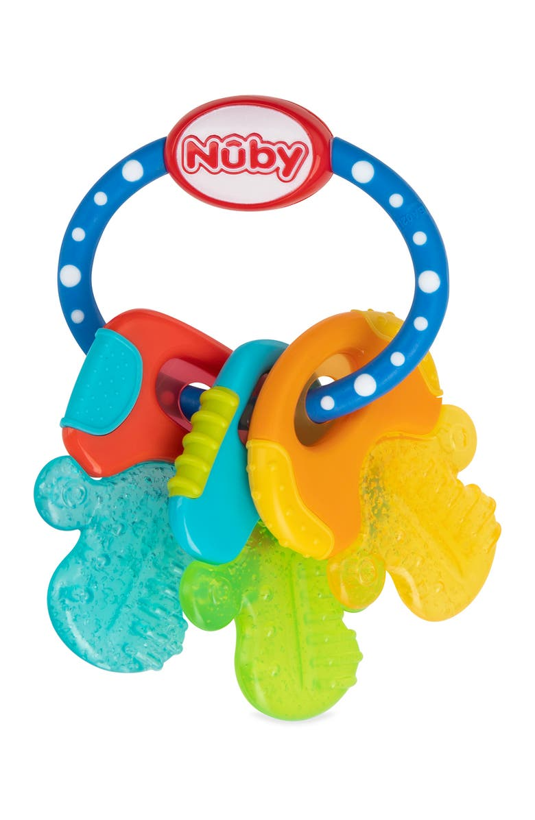 NUBY Ice Gel Teether Keys on a Ring, Main, color, ASSORTED
