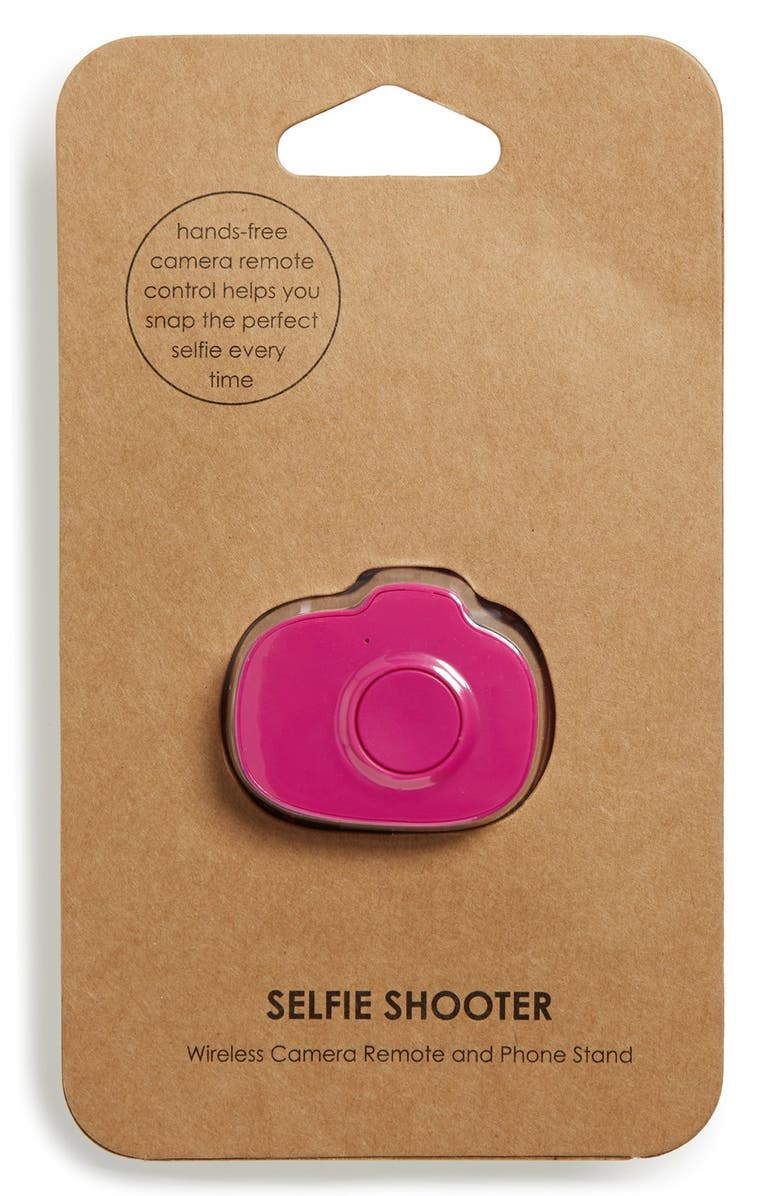 BP. 'Selfie Shooter' Wireless Smartphone Camera Remote, Main, color, HOT PINK