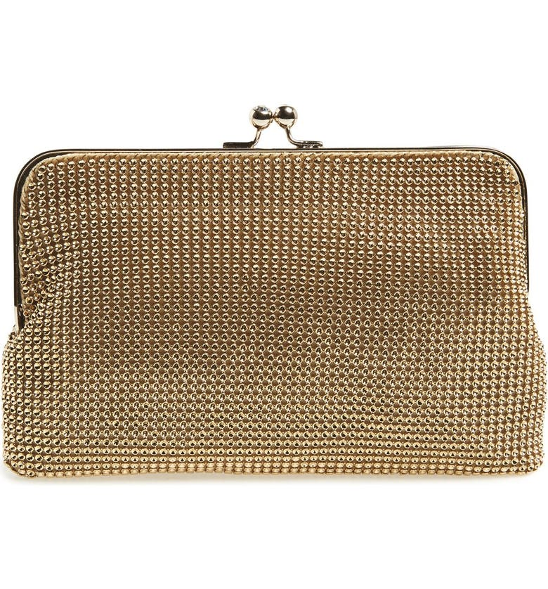 WHITING & DAVIS Mesh Clutch, Main, color, GOLD