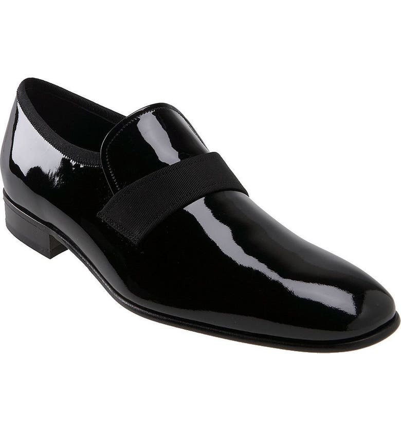 SALVATORE FERRAGAMO 'Party' Slip-On, Main, color, 001