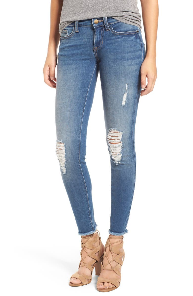 SP BLACK Destroyed Skinny Jeans, Main, color, 400