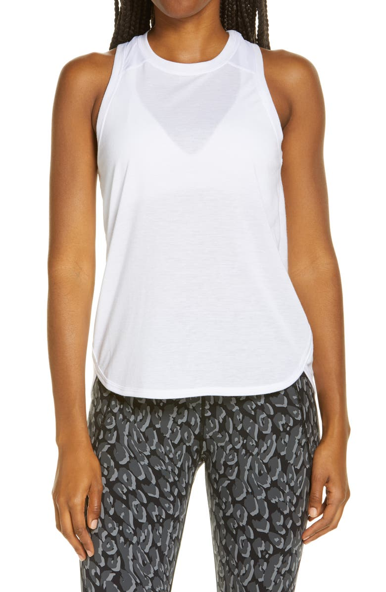 SWEATY BETTY Pacesetter Run Tank, Main, color, WHITE
