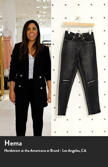 Ripped High Waist Bootcut Ankle Mom Jeans, sales video thumbnail