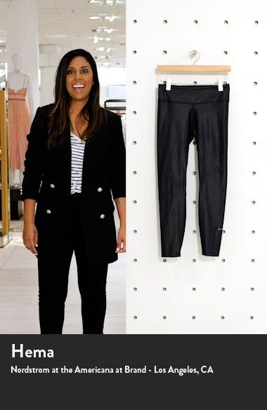 One Faux Leather Mid Rise 7/8 Leggings, sales video thumbnail