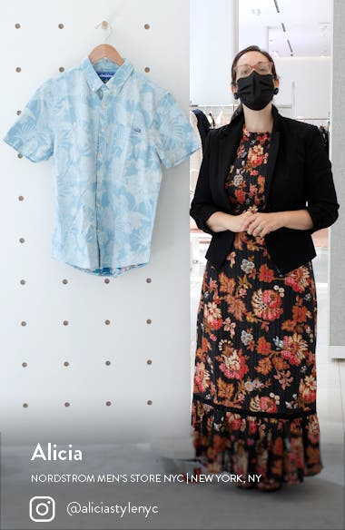 The Wanderer Floral Short Sleeve Button-Down Shirt, sales video thumbnail