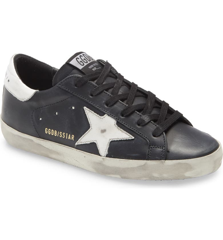 GOLDEN GOOSE Super-Star Low Top Sneaker, Main, color, BLACK WHITE STAR