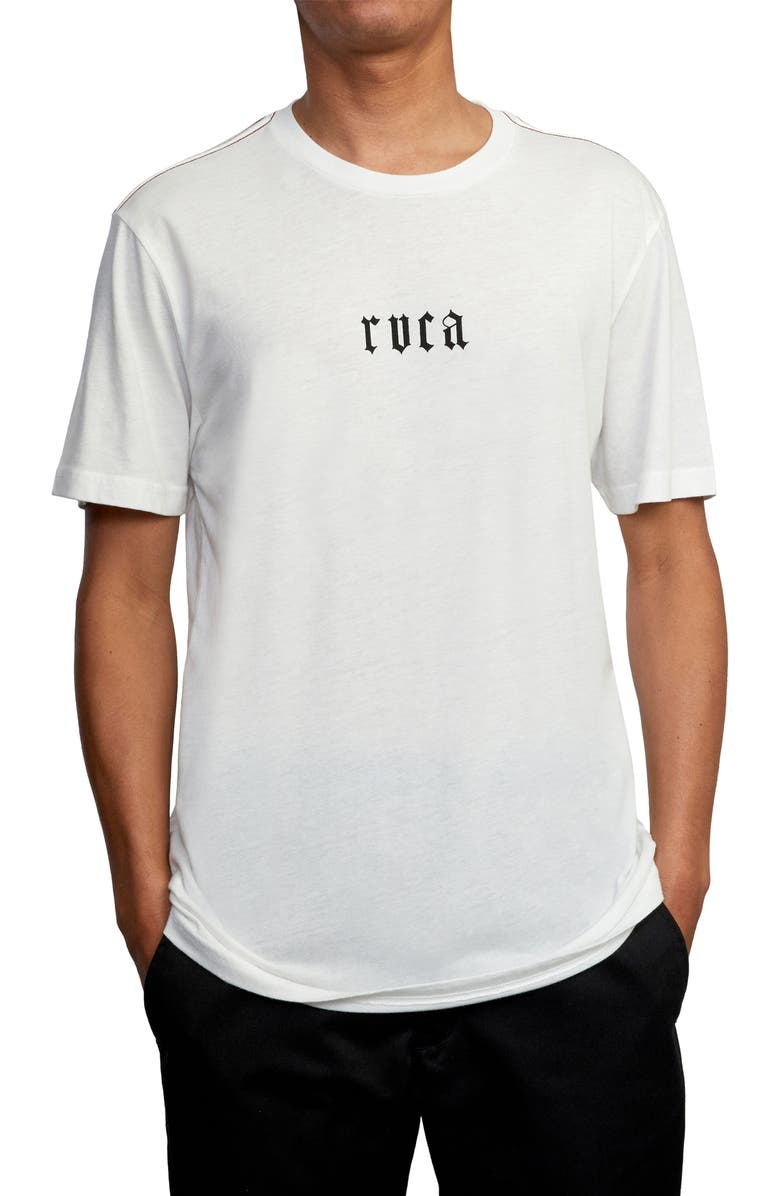 RVCA Benj Snakes Graphic Tee, Main, color, ANTIQUE WHITE