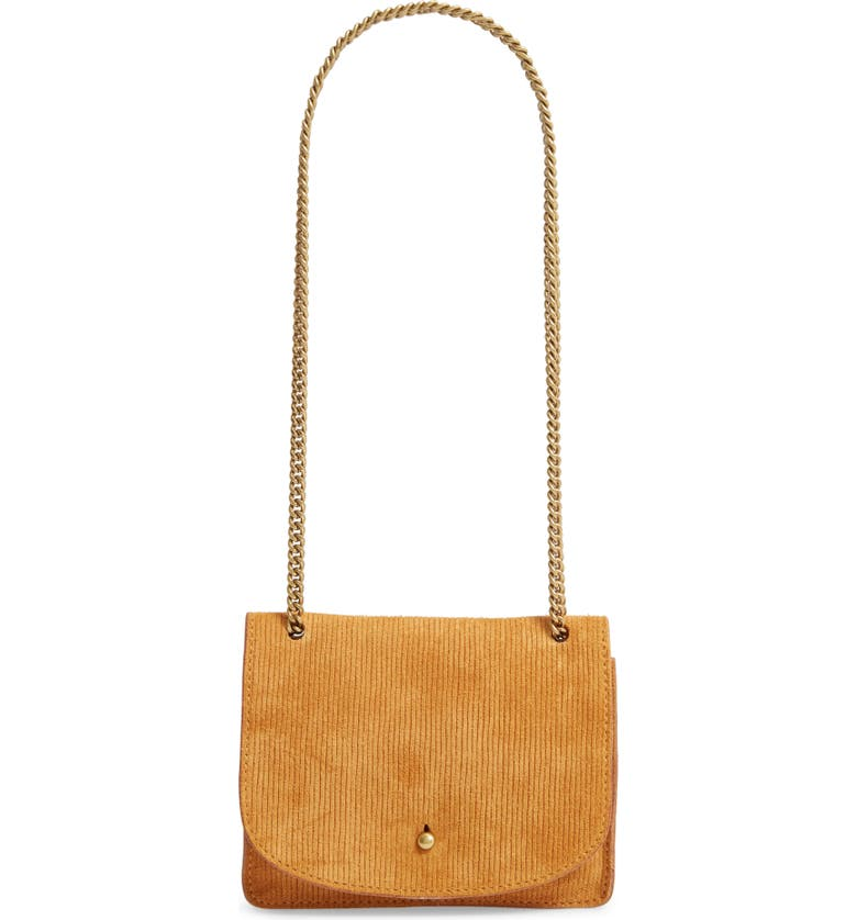 MADEWELL The Chain Corded Leather Crossbody Bag, Main, color, BOUTIQUE GOLD