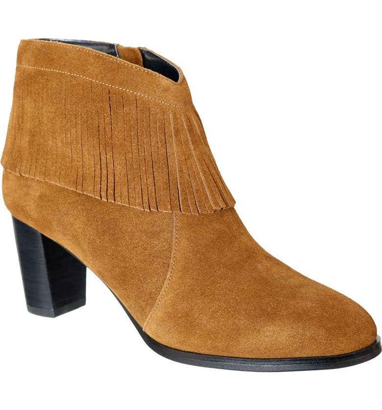 DAVID TATE Misty Suede Western Fringe Bootie - Multiple Widths Available, Main, color, TAN SUEDE