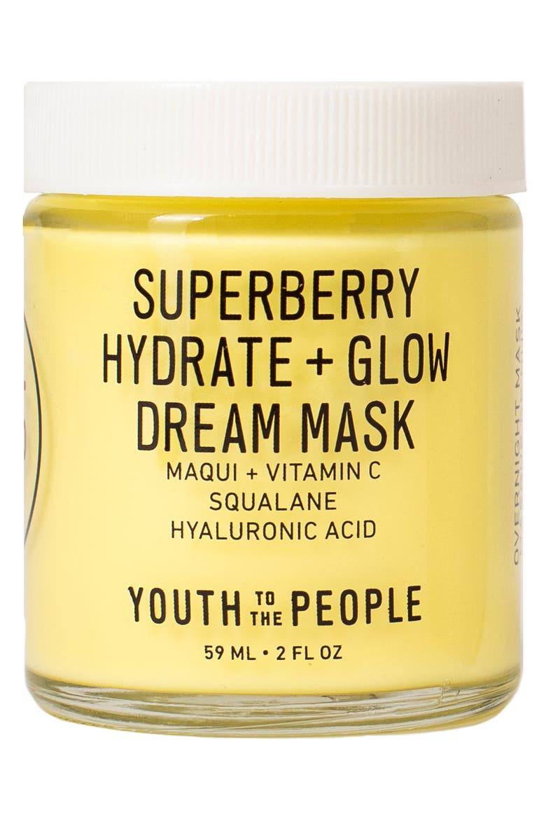 YOUTH TO THE PEOPLE Superberry Hydrate + Glow Dream Overnight Face Mask, Main, color, No Color