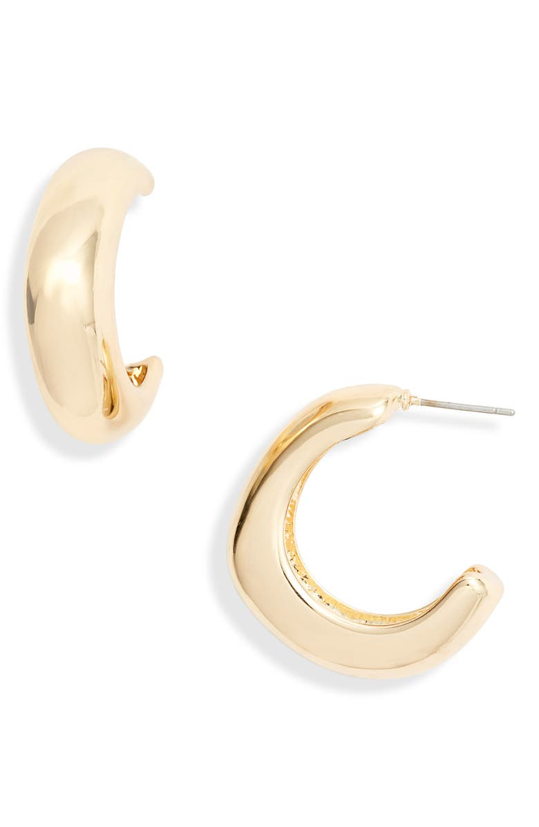 HALOGEN<SUP>®</SUP> Chubby Rounded Square Hoop Earrings, Main, color, 710