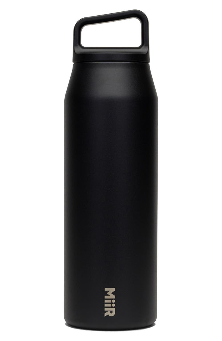 MIIR 32-Ounce Wide Mouth Stainless Steel Insulated Water Bottle, Main, color, Black