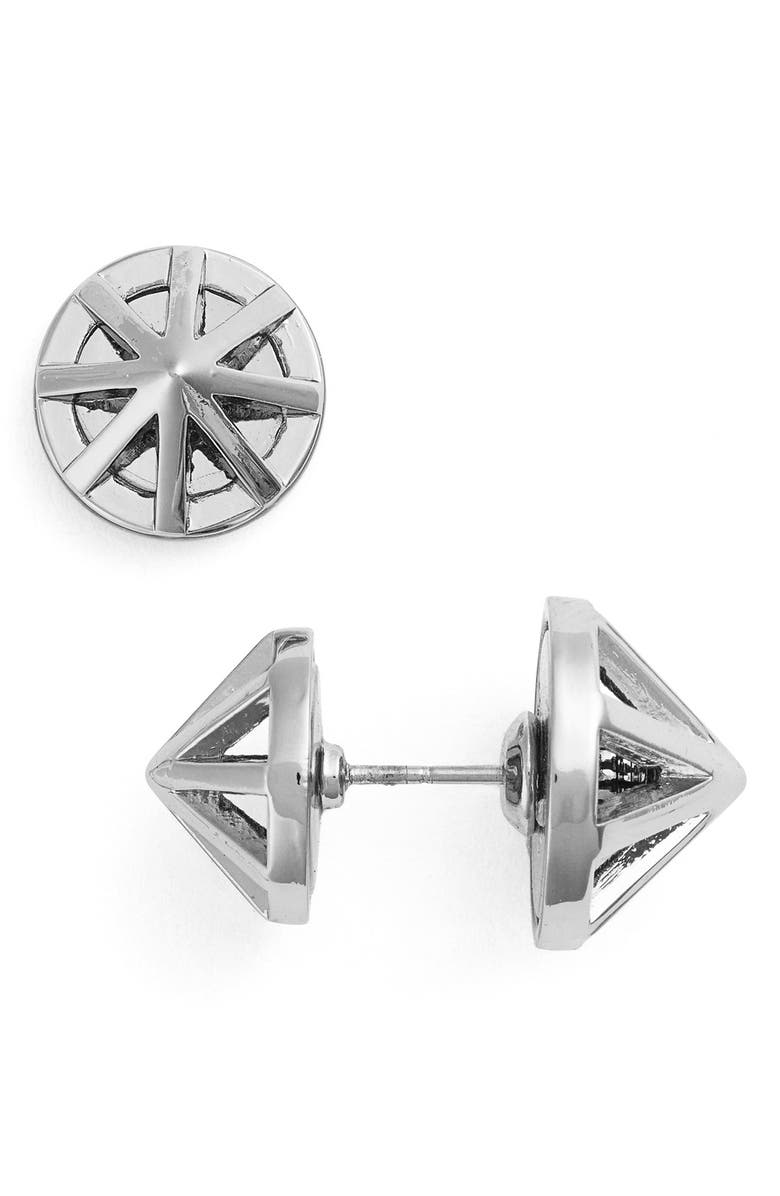 REBECCA MINKOFF Front and Back Earrings, Main, color, 040