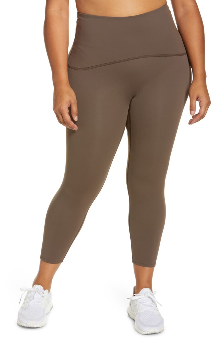 SPANX<SUP>®</SUP> Booty Boost Active 7/8 Leggings, Main, color, BARK