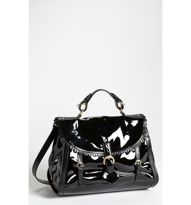 SEE BY CHLOÉ 'Poya Patent' Satchel, Main, color, Black