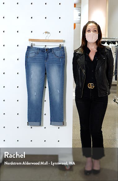 Ripped Crop Straight Leg Jeans, sales video thumbnail