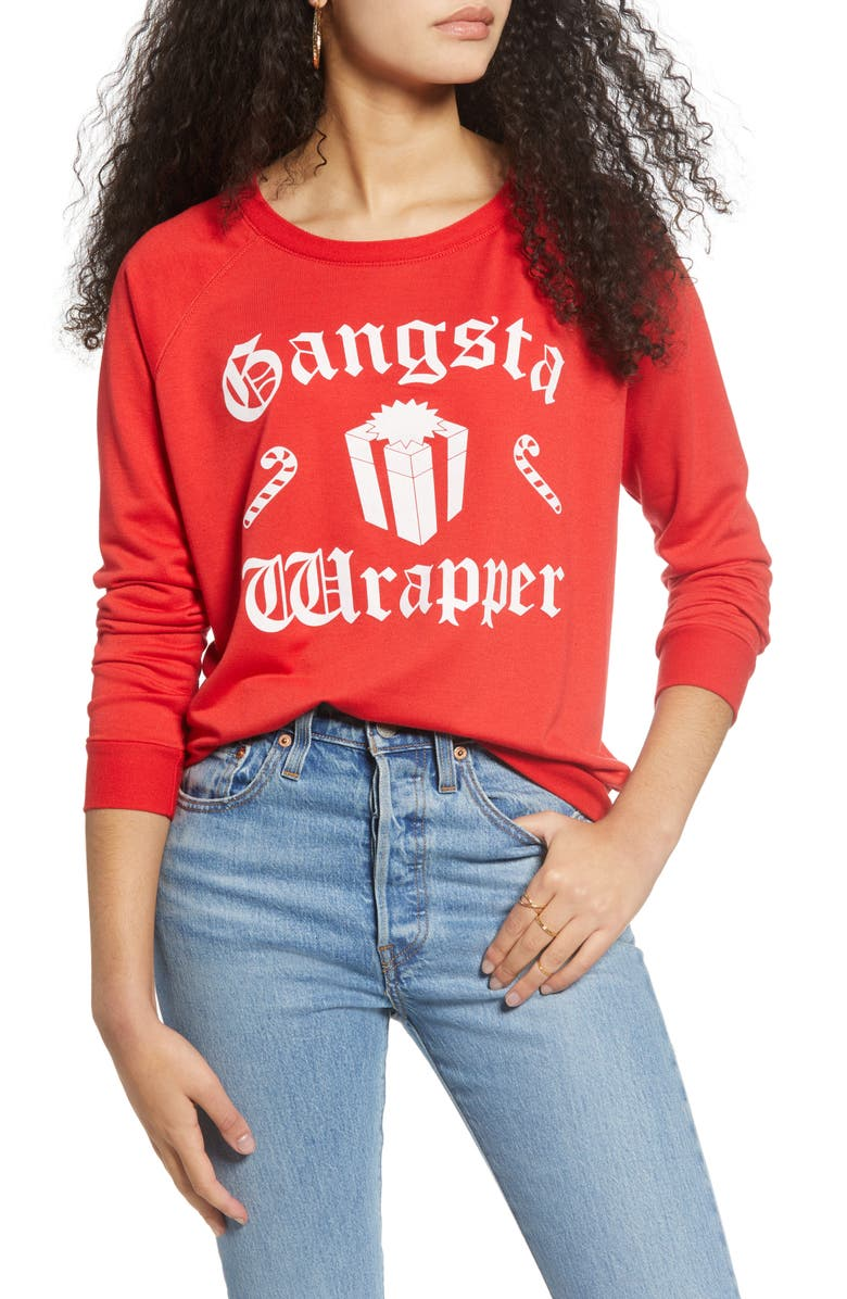PRINCE PETER Gangsta Wrapper Pullover, Main, color, 600