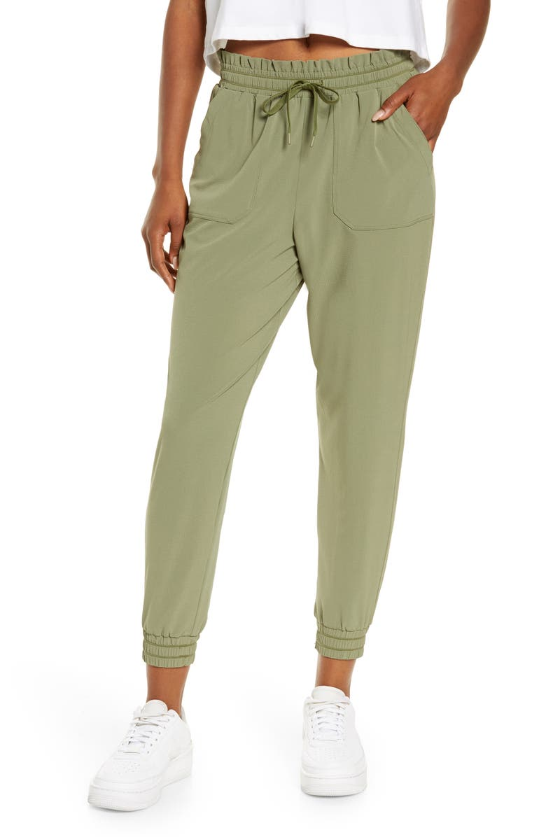 ZELLA Explore High Waist Joggers, Main, color, OLIVE BRANCH