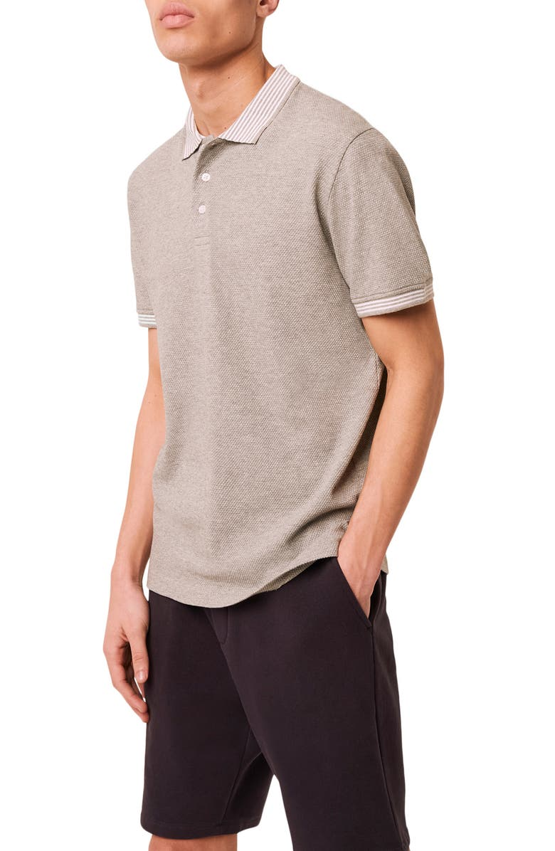 FRENCH CONNECTION Classic Oxford Slim Fit Polo Shirt, Main, color, LIGHT GREY MELANGE
