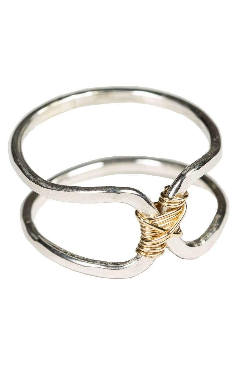 NASHELLE Bound Ring, Main, color, Silver