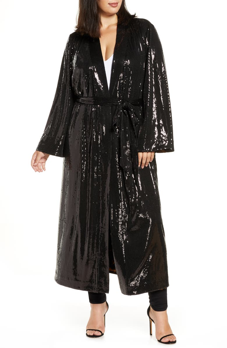 COLDESINA Flip Sequin Duster, Main, color, 001