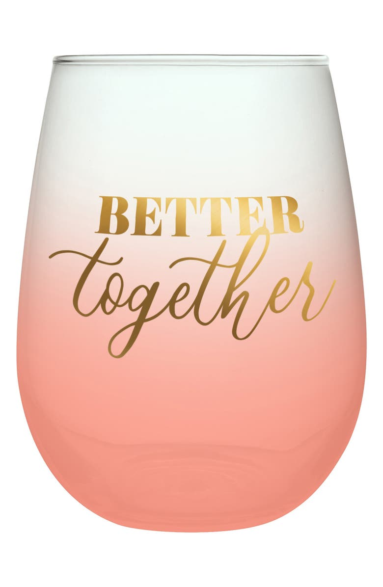 SLANT COLLECTIONS Better Together Wine Glass - Set of 2, Main, color, NONE