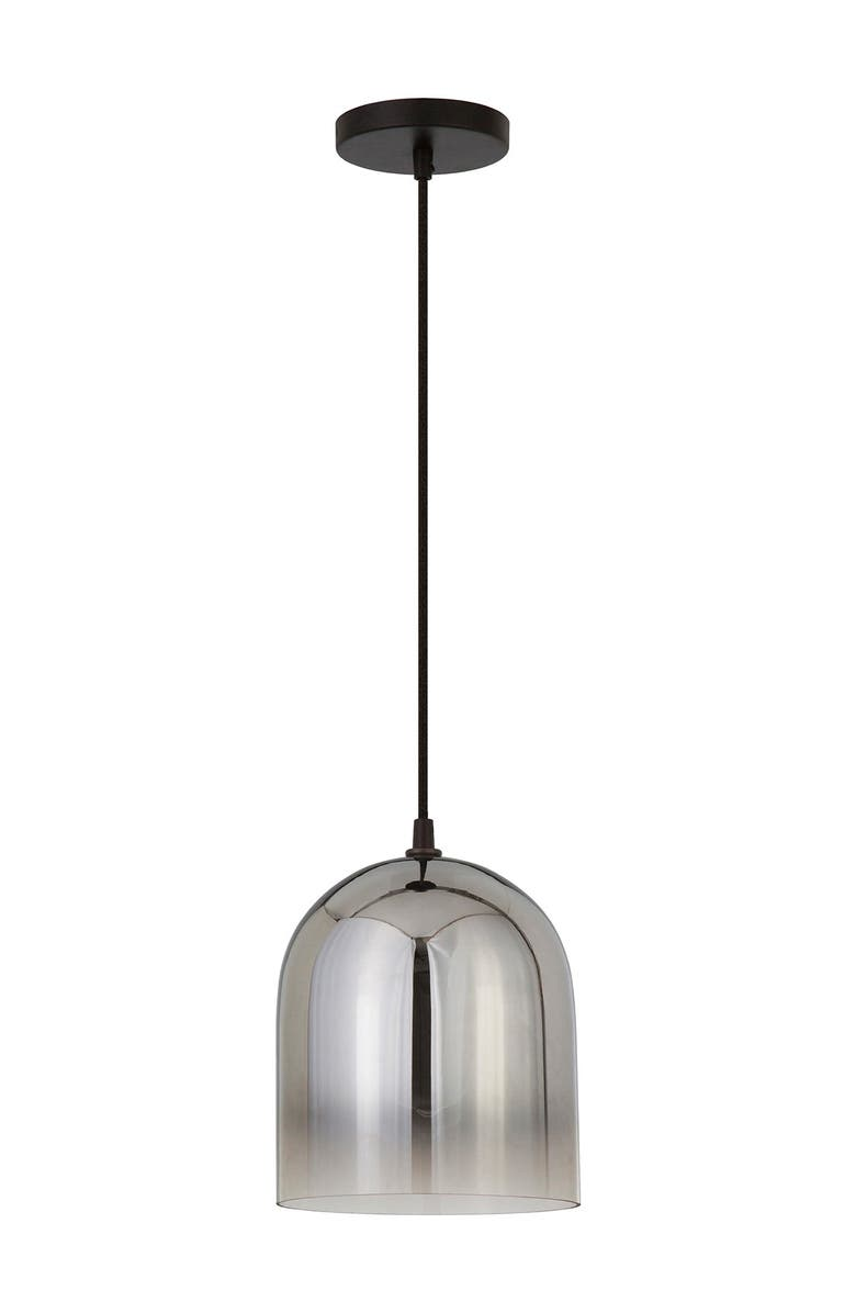 ADDISON AND LANE Marit Pendant - Smoked Nickel Glass, Main, color, SILVER