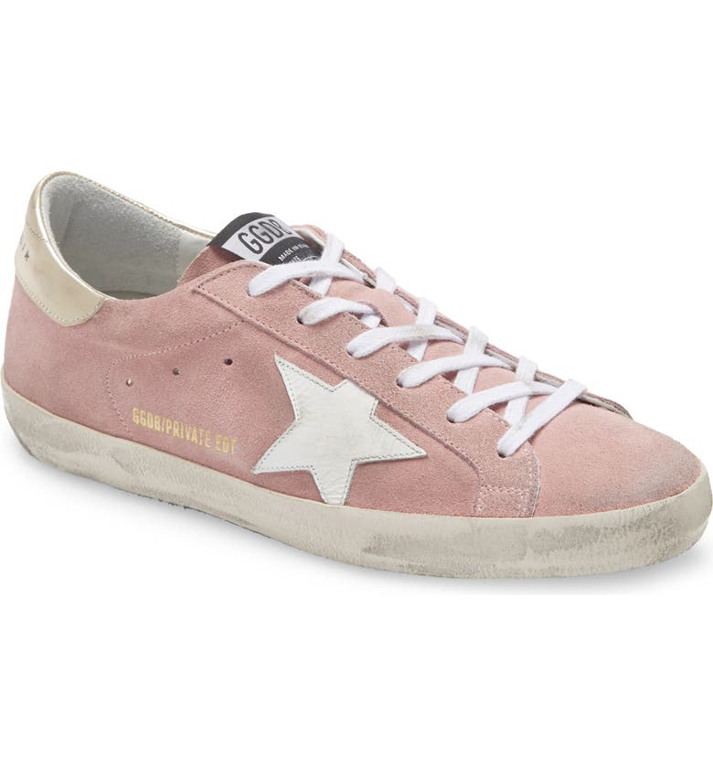 GOLDEN GOOSE Super-Star Private Edition Suede Sneaker, Main, color, PINK SUEDE