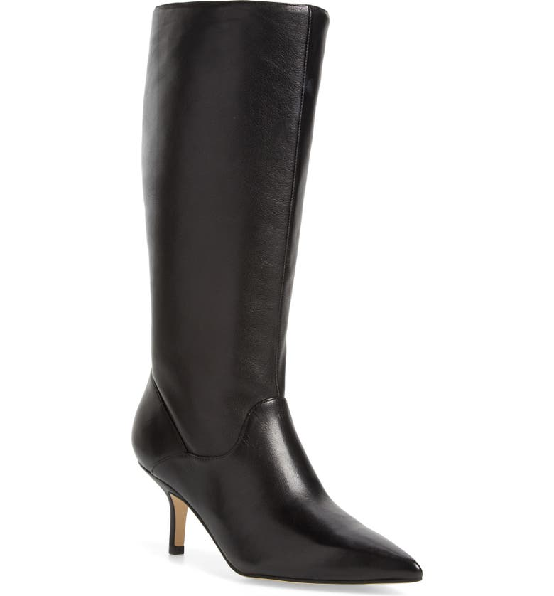 MARC FISHER LTD Dacey Boot, Main, color, BLACK LEATHER