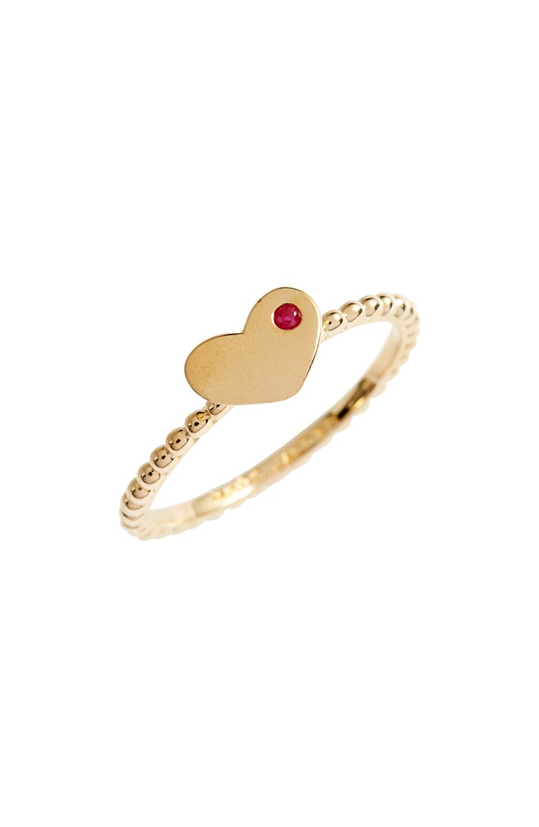 MARC JACOBS Heart Stack Ring, Main, color, Gold