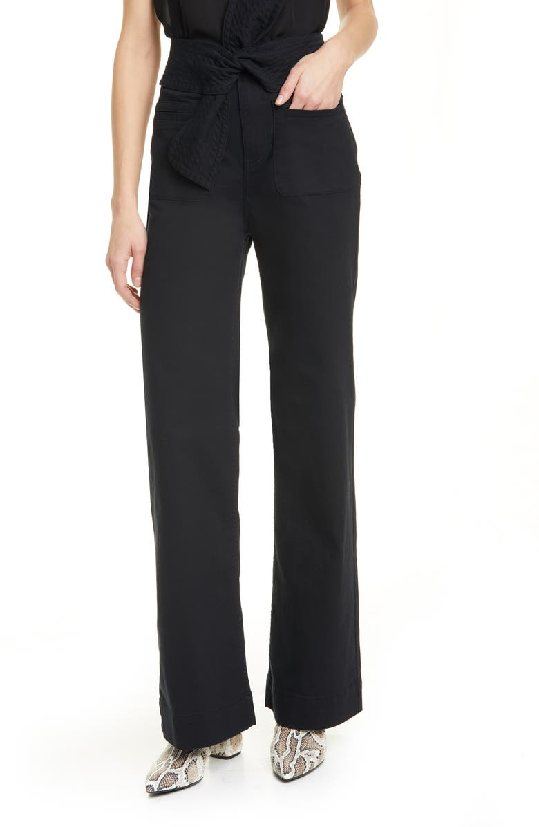 ULLA JOHNSON Wade Tie Waist Jeans, Main, color, 001
