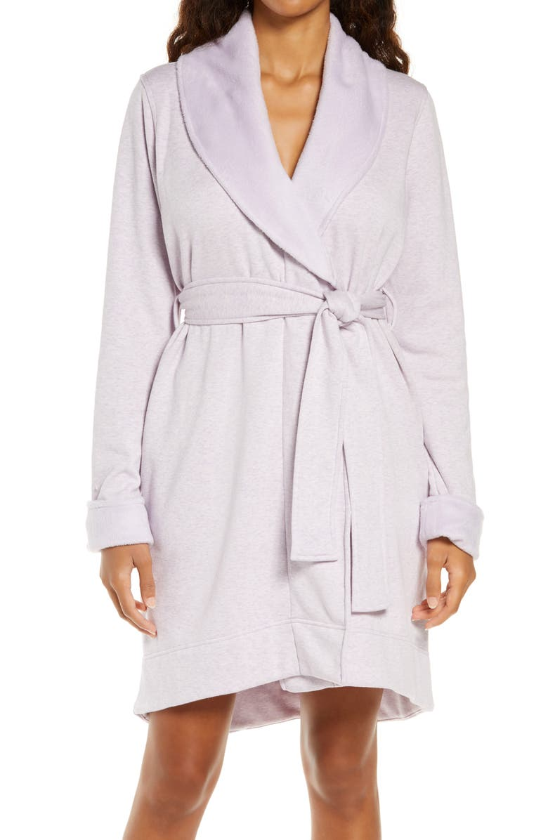 UGG<SUP>®</SUP> Blanche II Short Robe, Main, color, LILAC FROST HEATHER