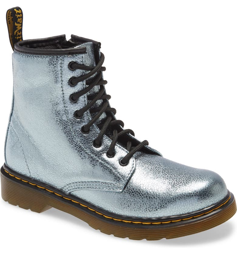 DR. MARTENS 1460 Metallic Boot, Main, color, TEAL